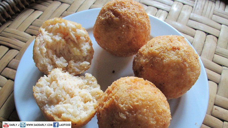 Lao fried rice balls